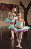Cute Ballerinas Rehearsing — Stock Photo