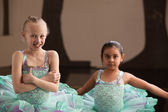 Smiling Pretty Ballet Girls — Стоковое фото