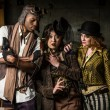 Постер, плакат: Steampunk Trio with Phone