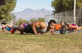 Outdoor Exercise Bootcamp — Stock Photo