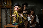Steampunk Trio with In Retro Lab — Stock Photo