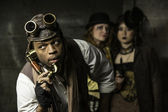 Steampunk Trio — Stockfoto