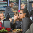 Arguing Executives in Cafeteria — Stock Photo #42353365