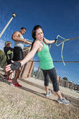 Resistance Bands Workout — Stock Photo