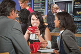 Business People in Restaurant — Stock Photo