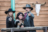 Old West Trio — Stock Photo