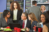 Four Business People at Lunch — Stock Photo