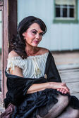 Saloon Girl Portrait — Foto de Stock