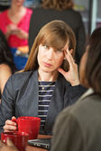 Annoyed Woman on Break — Stock Photo