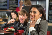 Giggling Woman — Stock Photo