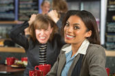 Woman with Frustrated Friend — Stock Photo