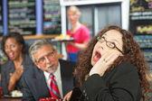 Yawning Business Woman — Stock Photo