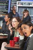 Loud Woman on Phone — Stock Photo