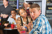 Bickering Young Couple — Stock Photo