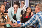 Laughing Group of Students — Stock Photo