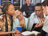 Students Cramming — Stock Photo