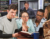 Clever Student with Friends — Stock Photo