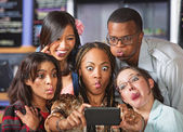 Cute Group Making Faces — Stock Photo