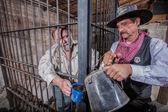 Sheriff Tends to Prisoner — Stok fotoğraf