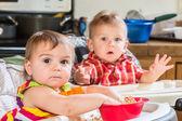 Bebês-almoço — Foto Stock