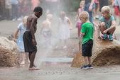Children at Iowa State Fair — Stock Photo