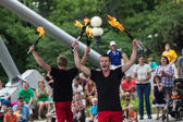 Jugglers at Iowa State Fair — Stock Photo