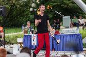 Juggler at Iowa State Fair — Stock Photo