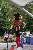 Acrobats at Iowa State Fair — Stock Photo