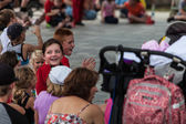 Show audience at the Iowa State Fair — Stok fotoğraf
