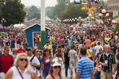Crowd at Iowa State Fair — Stock Photo