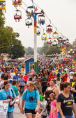 Crowd at Iowa State Fair — Foto Stock