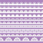 Conjunto de adornos de encaje hermoso vector — Vector de stock