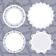 Royalty-Free Stock Vector Image: Set of round lacy doilies.