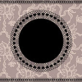 Elegant doily on lace background — Stock Vector