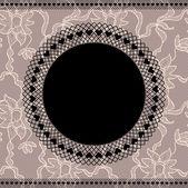 Elegancka serwetka na tle koronki — Wektor stockowy
