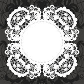 Elegant doily on lace gentle background — Stock Vector