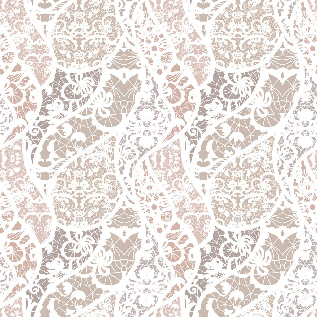 Lace vector fabric seamless pattern stock illustration