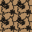 Black lace vector fabric seamless pattern — Imagen vectorial