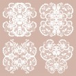 Set of lace ornaments — Stock Vector