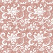 Lace seamless pattern with flowers - Vektorgrafik