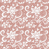 Lace seamless pattern with flowers — Vector de stock