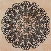 Elegant lacy doily — Stock Vector