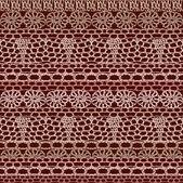 Lace seamless crochet pattern — Stock Vector
