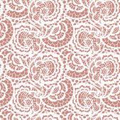 レースの花とのシームレスなパターン — ストックベクタ