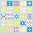 Set of elegant polka dot patterns. — Vettoriale Stock