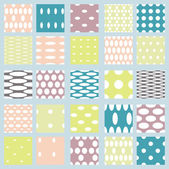 Set of elegant polka dot patterns. — Stock Vector