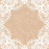 Vintage lace invitation card. — Stock Vector