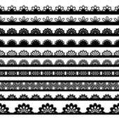 Lace ribbons — Stock Vector