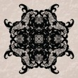 Elegant lacy doily on watercolor background — Grafika wektorowa