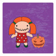 Halloween character. — Stock Vector